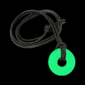 Glow in the dark round circle necklace rave spirituality and safety