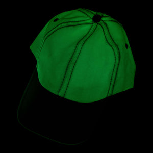 glow in the dark adjustable baseball sport cap hat