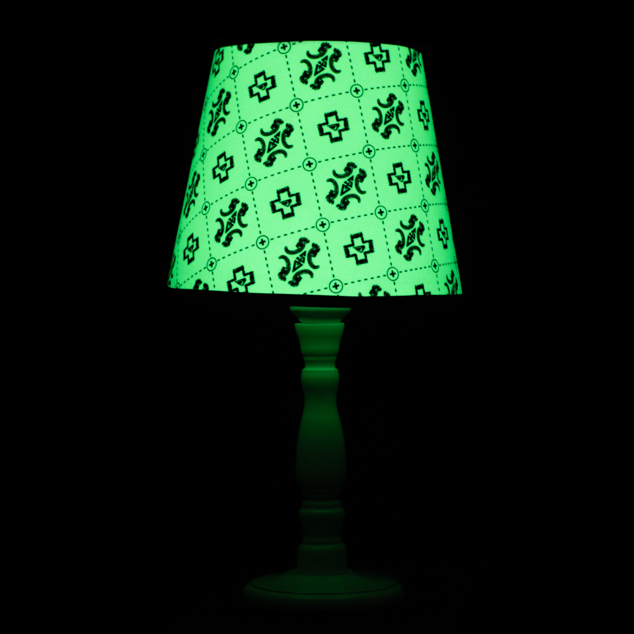 Glow in the dark sustainable off grid lamp