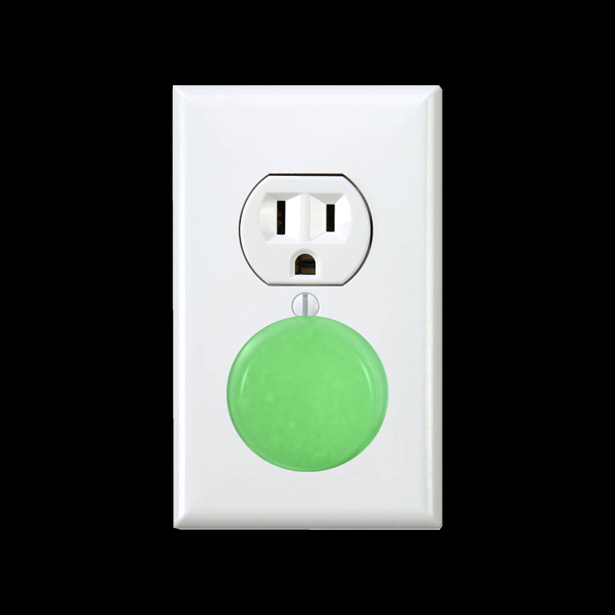 Glow in the dark safety outlet plastic cap