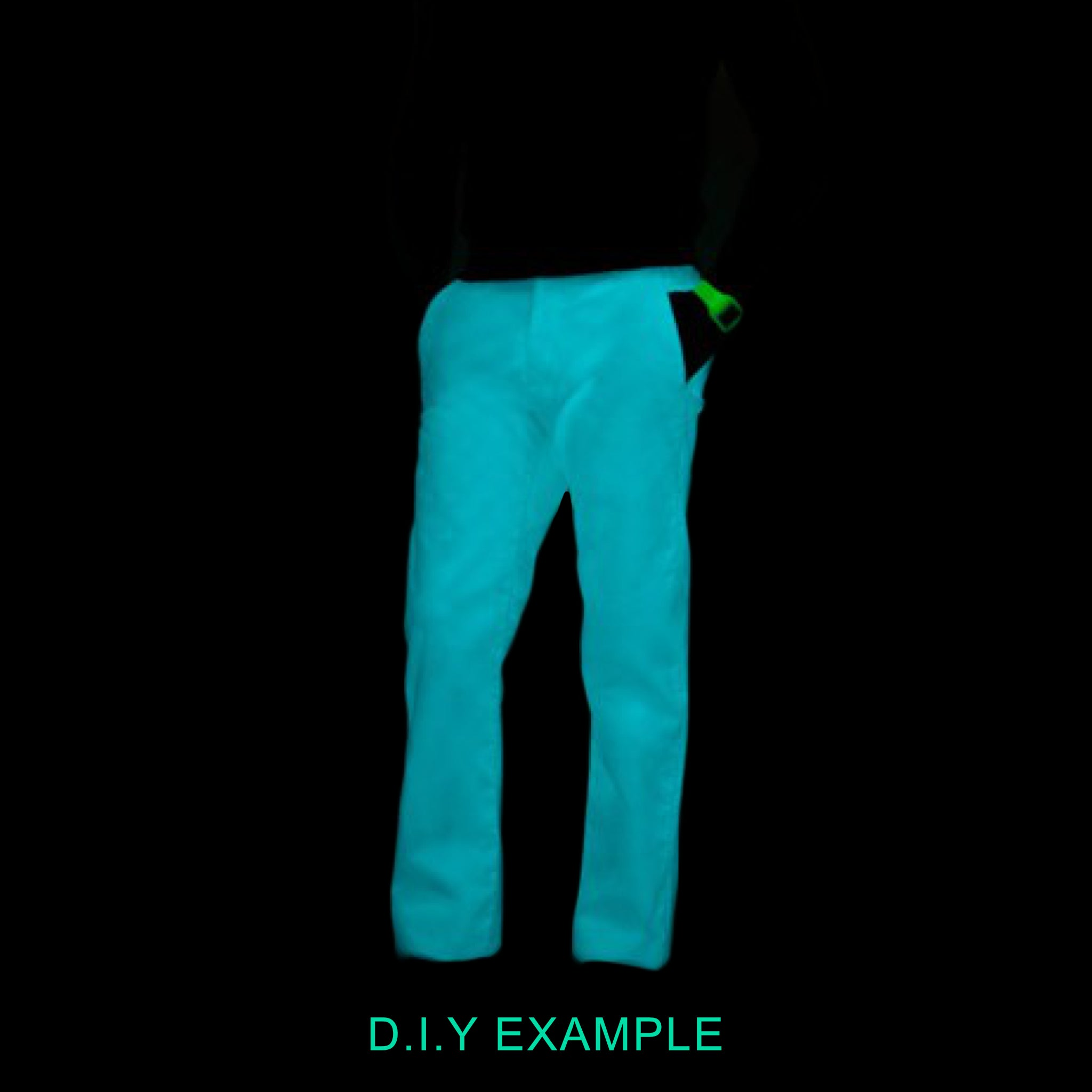 Multipurpose Waterproof Fabric Glow in the Dark Ski Pants