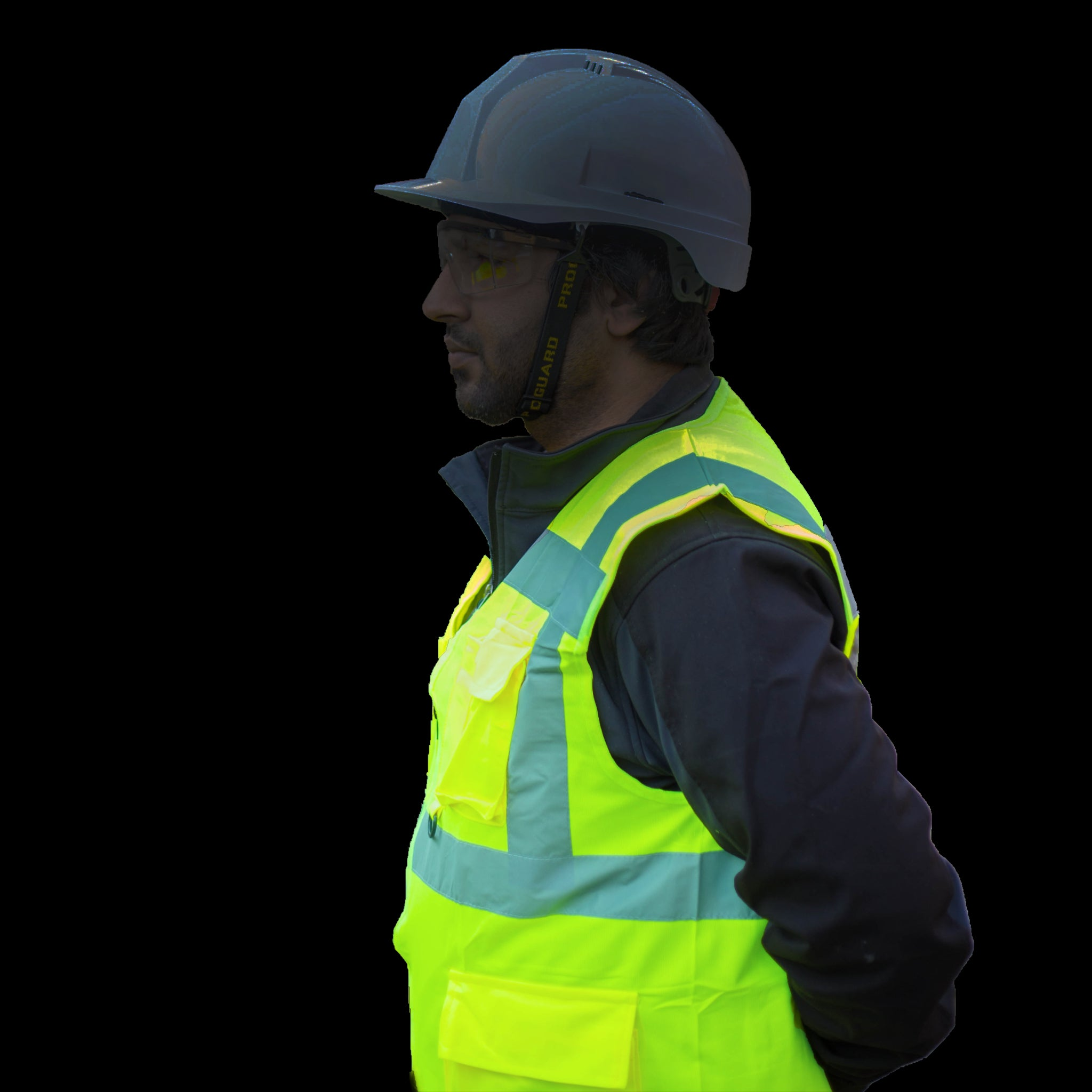 glow in the dark safety work vest
