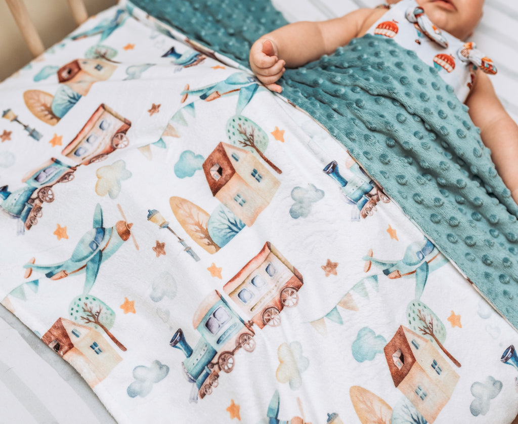 Premium Baby & Toddler Minky Blanket - Planes, Trains, Automobiles