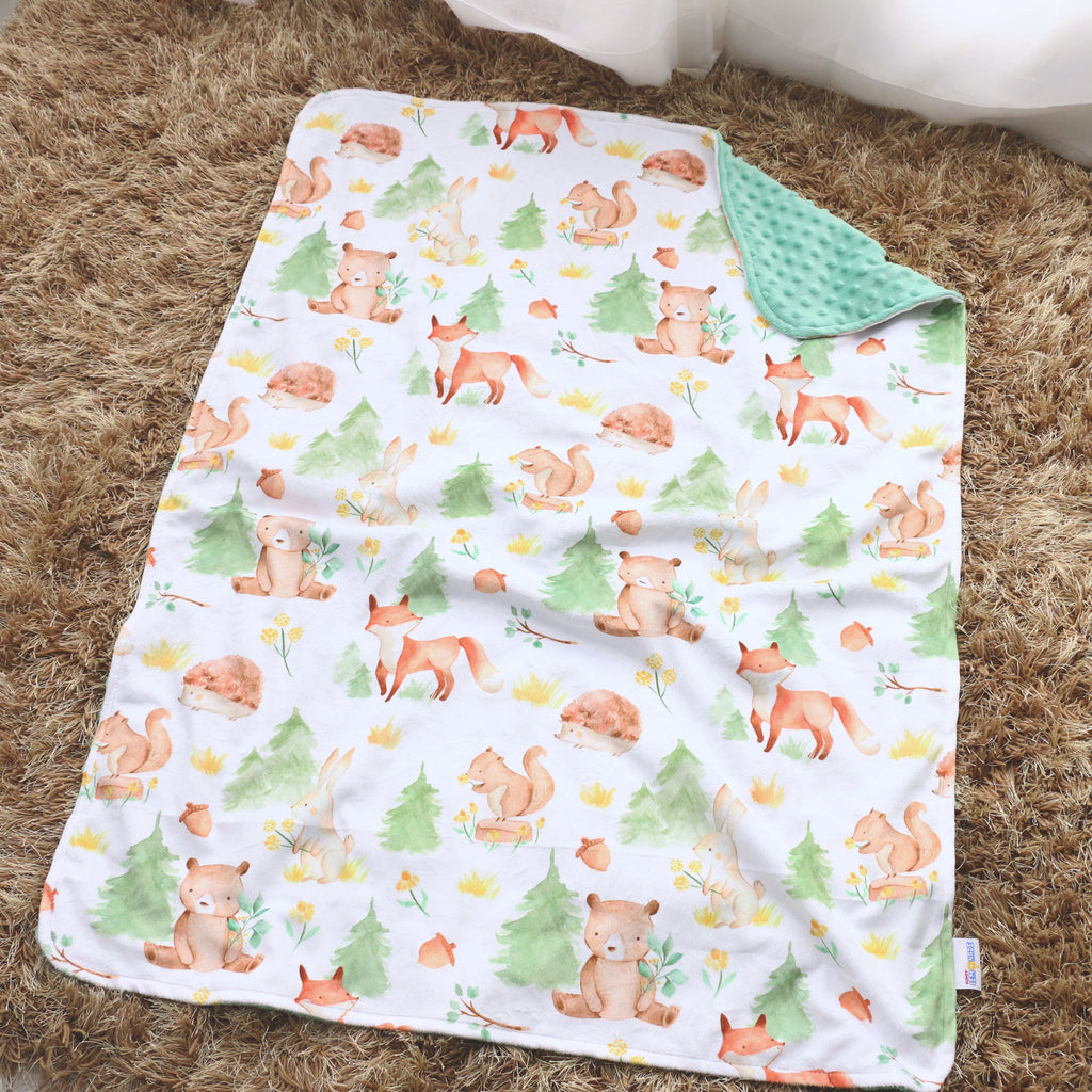 Baby & Toddler Minky Blanket - Forest Friends