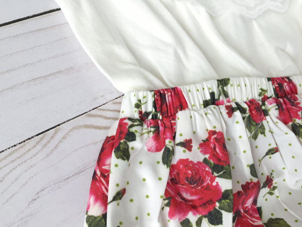 Baby Girl Floral Bottom Romper