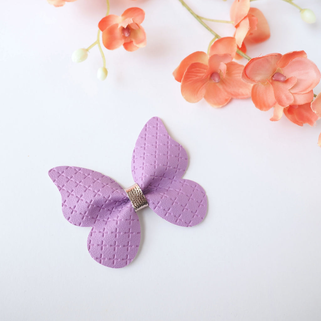 Handmade Vegan Leather Butterfly Hair Clip/Headband