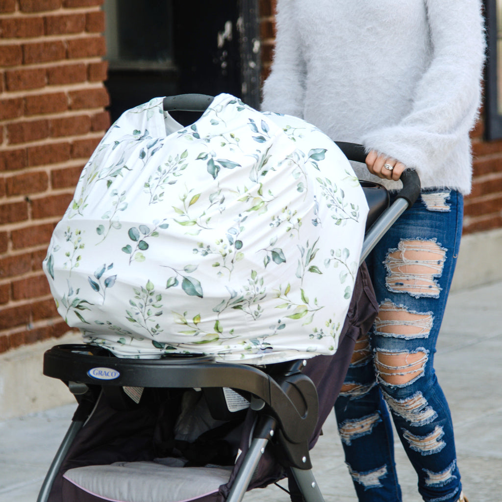 Greenery Infant Car Seat / Nursing Cover
