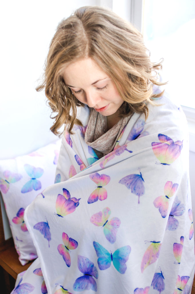 Adult Throw Blanket - Butterfly ( 2 Sizes Available)