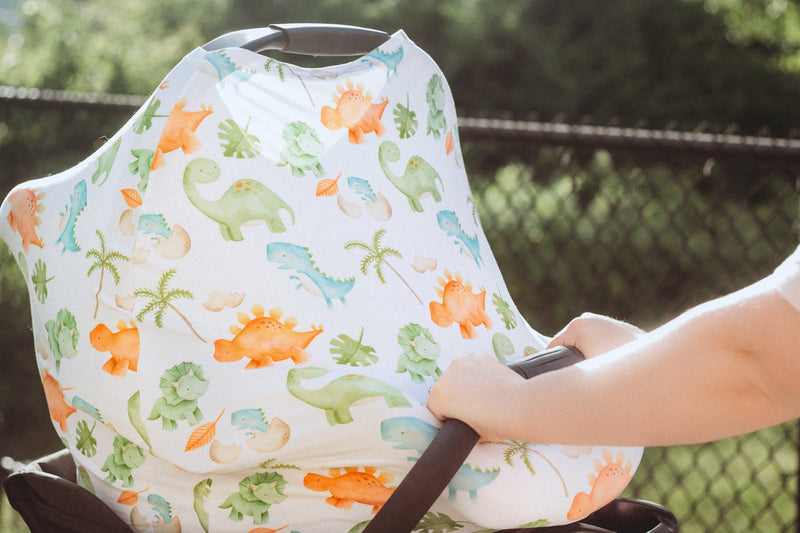 Dinosaur Infant Car Seat/Nursing Cover