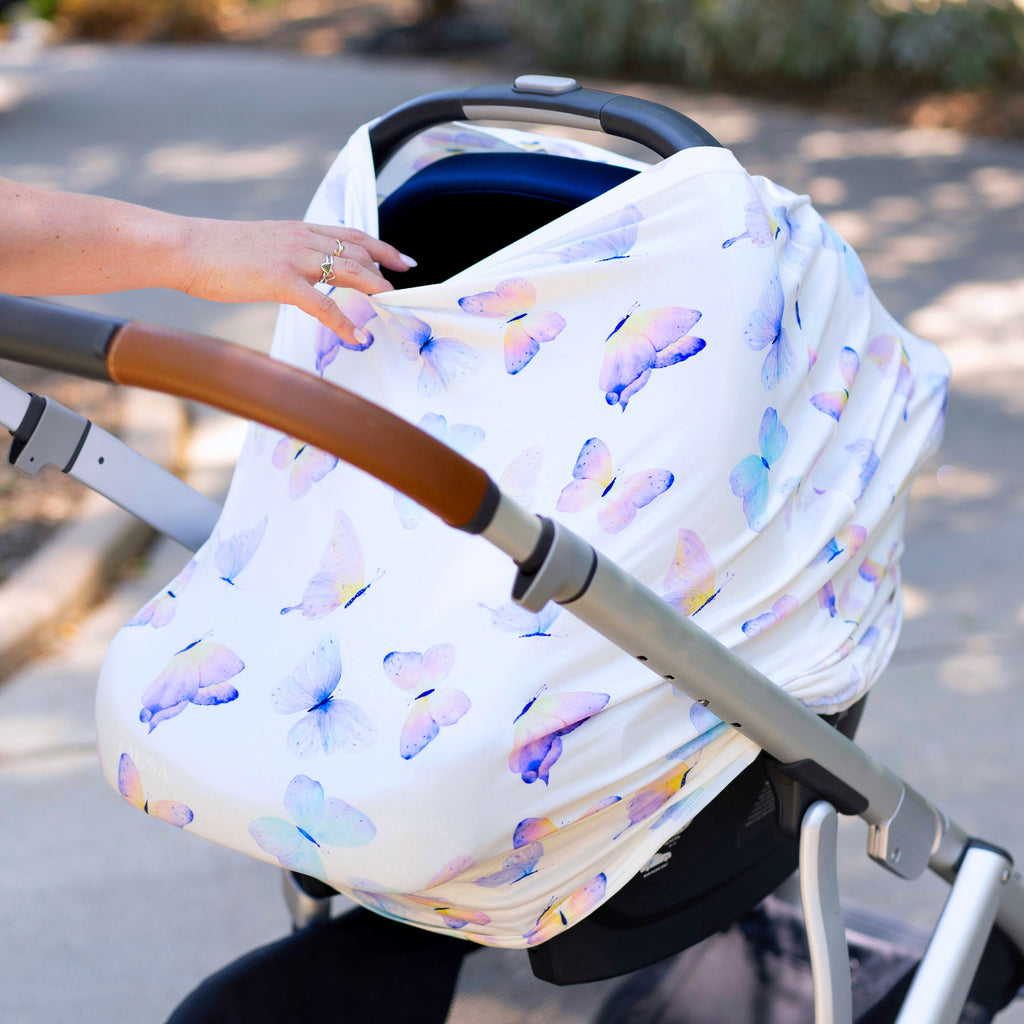 Butterfly Infant Car Seat/Nursing Cover