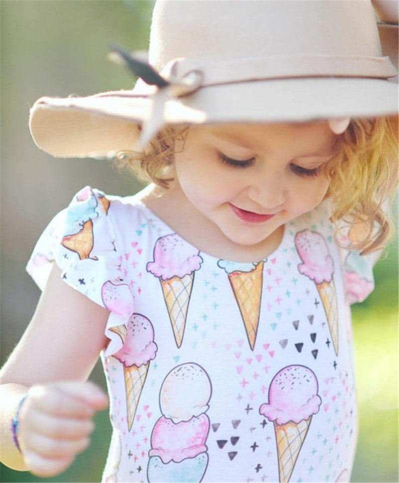 Baby Girl & Toddler Swimsuit/Onesie - Ice Cream