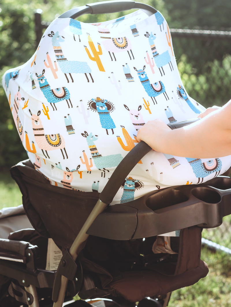 Llama Infant Car Seat/Nursing Cover