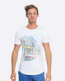 Havana Vieja Raw neck Slub Cotton Tshirt