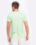 Pina Colada Design V neck Lime t-shirt