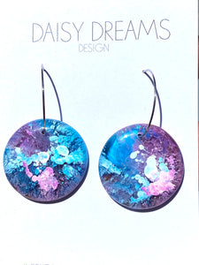 Resin and Ink Drop Hoops
