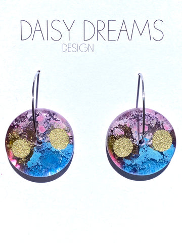 Plum Blossom Statement Drop Earrings