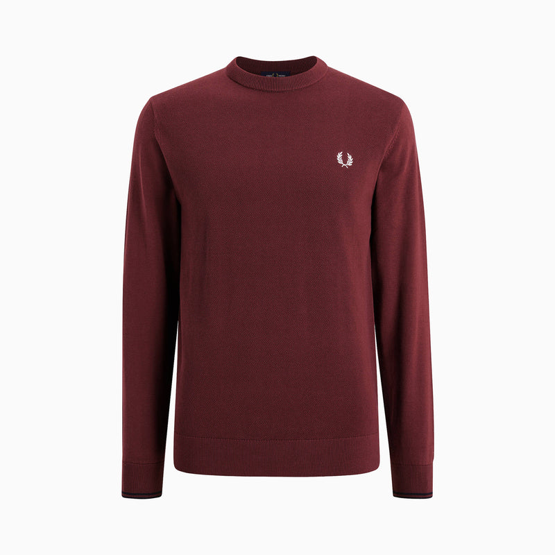 Fred Perry Textured Front Panel Jumper - Port