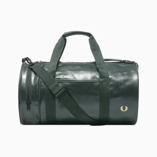 Fred Perry Tonal Barrel Bag - Dark Green