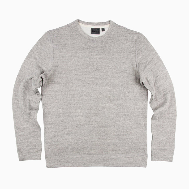 Naked & Famous Slim Crew Vintage Double Face - Grey