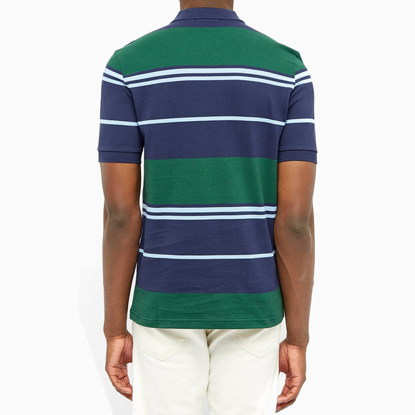 Fred Perry Stripe Polo Shirt - Carbon Blue