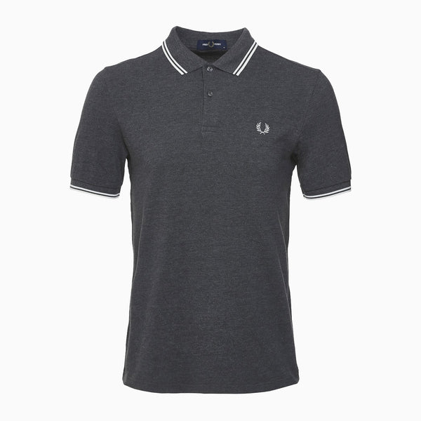 Fred Perry Twin Tipped Fred Perry - Shirt/Charcoal/Snowwht
