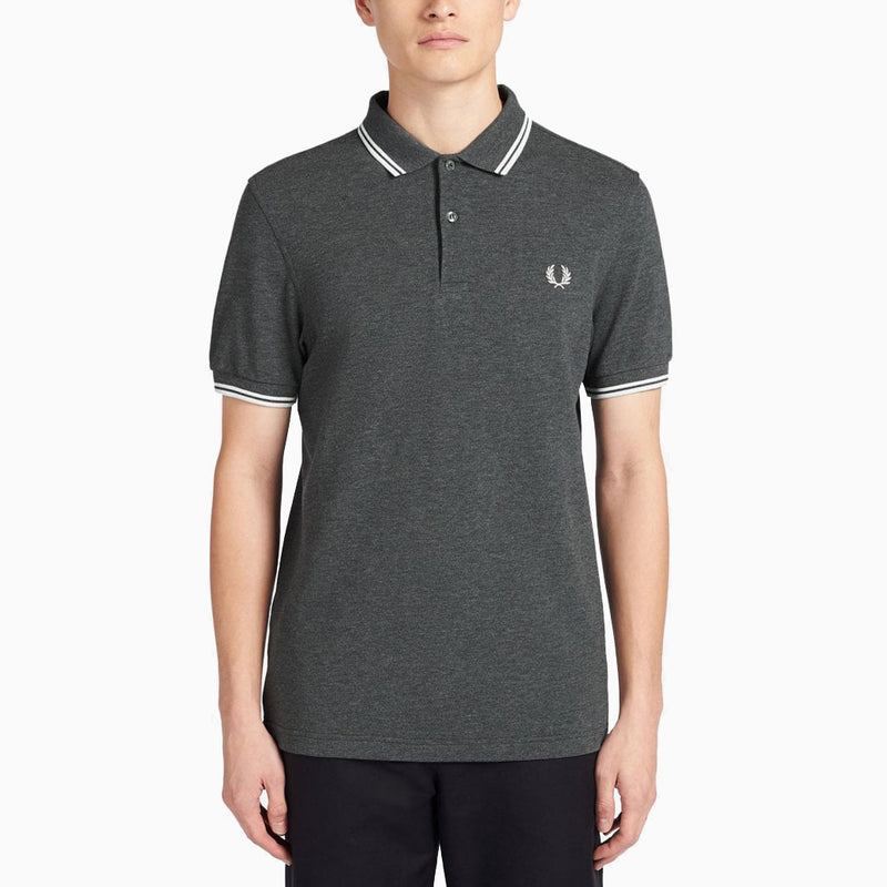 Fred Perry Twin Tipped Fred Perry - Shirt/Charcoal/Snow White