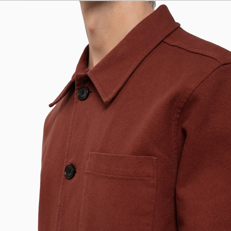 Nudie Barney Worker Jacket - Brick Red