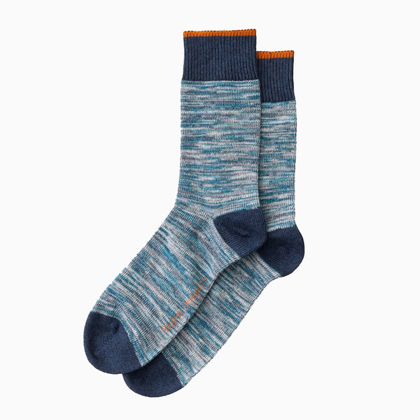 Nudie Barney Rassusson Multi Yarn Socks - Blue