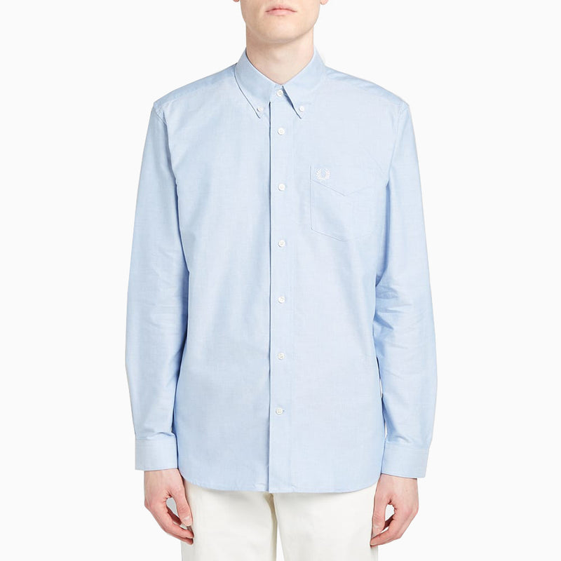 Fred Perry Classic Oxford Shirt L/S - Light Smoke