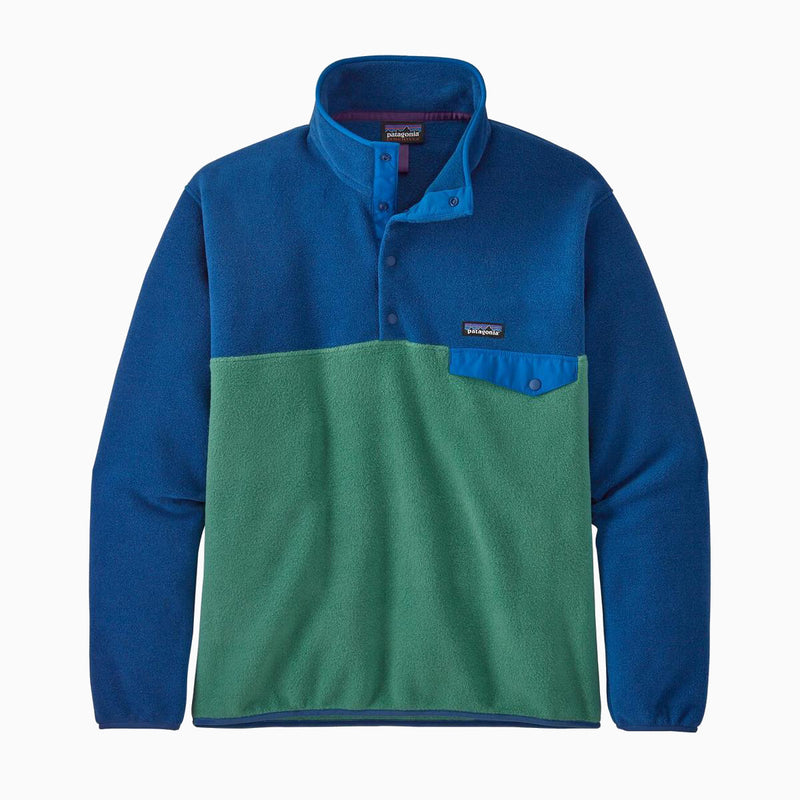 Patagonia M's Light Weight Synch Snap-T Pull Over - Eelgrass Green