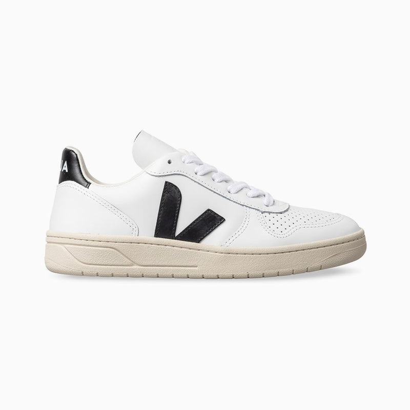 Veja V-10 Leather - Extra White/Black