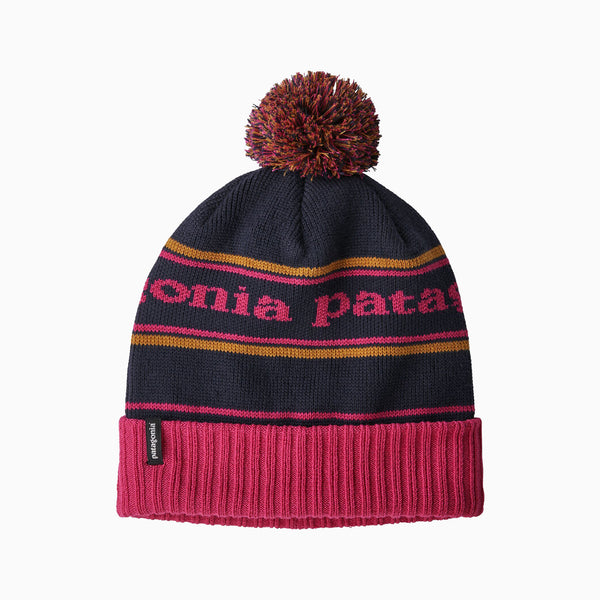Patagonia Powder Town Beanie - Park Stripe/Craft Pink /Navy Blue