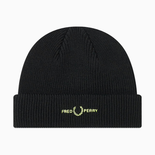 Fred Perry Graphic Branded Beanie - Black