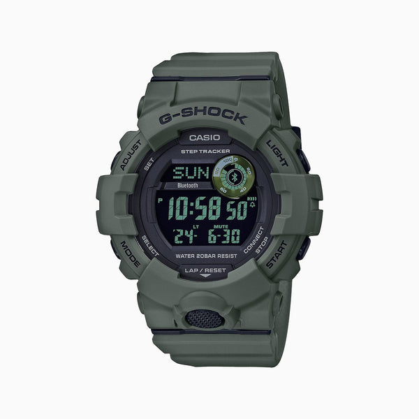 G-Shock Step Tracker with Bluetooth - Black/Green Resin