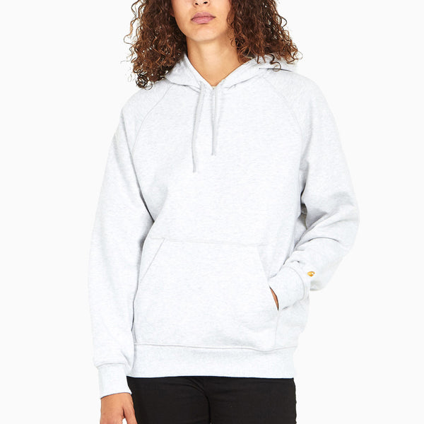 Carhartt W' Hooded Chasy Sweat - Ash Heather/Gold