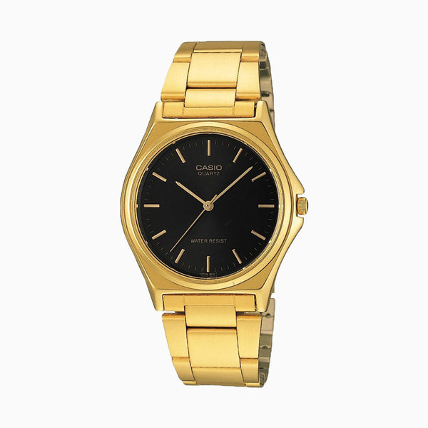 Casio Gents Analog - Black Face/Gold