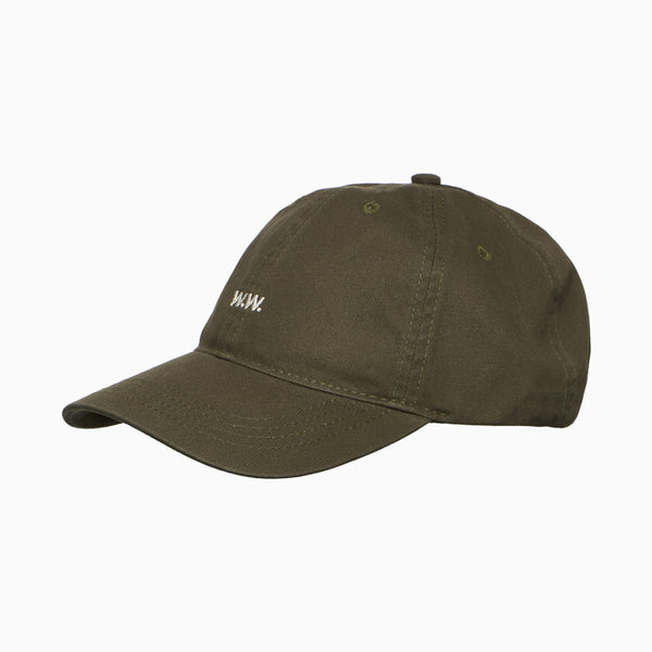 Wood Wood Low Profile Cap - Dusty Green