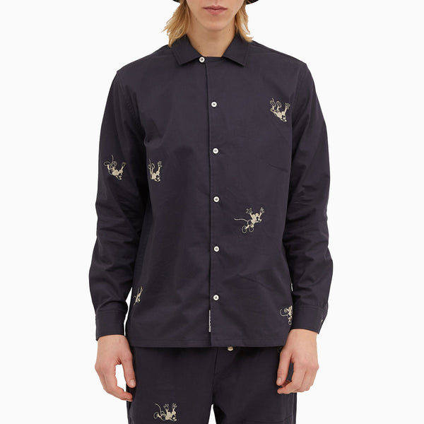 Wood Wood x Disney Anker Shirt - Navy