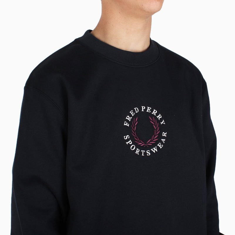Fred Perry Archive Branding Sweatshirt - Navy