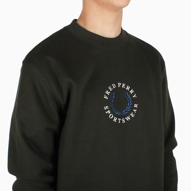 Fred Perry Archive Branding Sweatshirt - Hunting Green