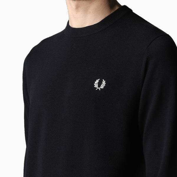 Fred Perry Textured Front Panel Jumper - Navy