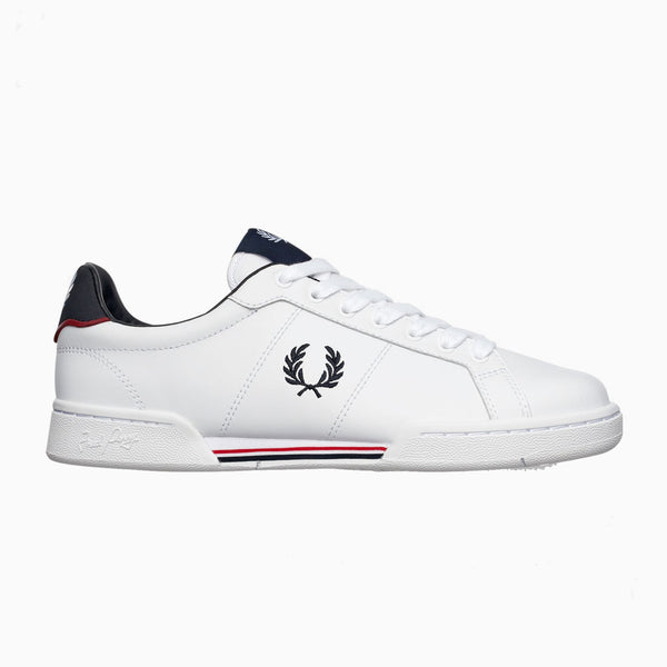 Fred Perry B722 Leather - White - B6202-100