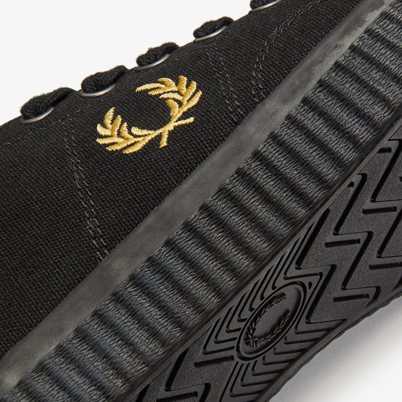 Fred Perry Hughes Low Canvas - Black/Champagne