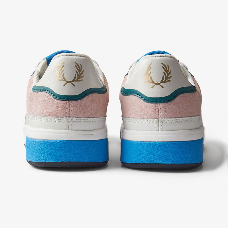Fred Perry B300 Leather /Suede / Poly - Snow White -B8293-303