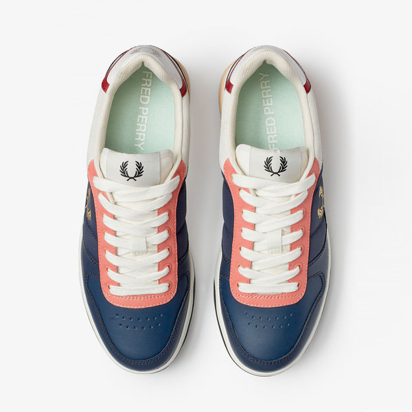 Fred Perry B300 Leather / Suede / Poly - Inky Blue -B8293-907