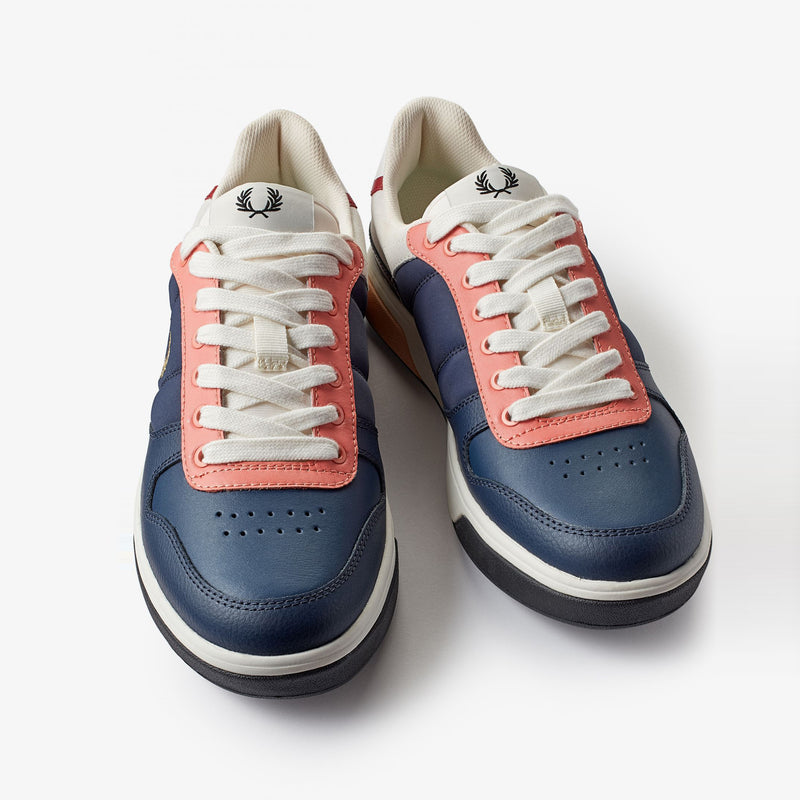 Fred Perry B300 Leather / Suede / Poly - Inky Blue