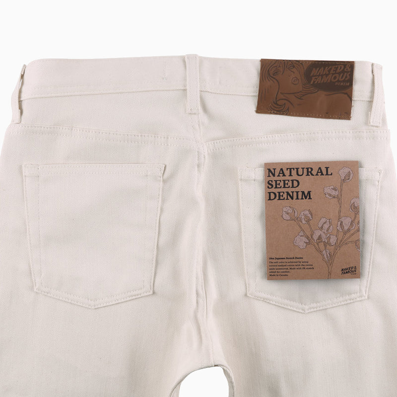 Naked & Famous Weird Guy Natural Seed Denim - Natural