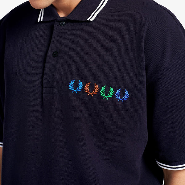 Fred Perry x Beams Twin Tipped Polo Shirt - Indigo Night