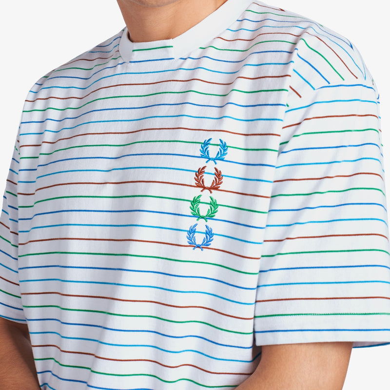 Fred Perry x Beams Striped T-Shirt - White
