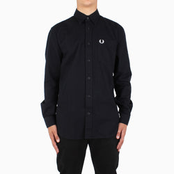 Fred Perry Brushed Cotton Shirt - Black